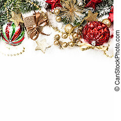 festive christmas decoration with red baubles