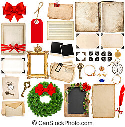 scrapbooking elements for christmas holidays greetings