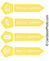 Contact icons - Web contact icons - vector illustration.