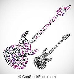 Bright vector bass guitar