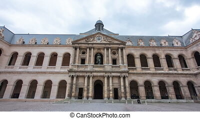 Great Court of Les Invalides complex timelapse hyperlapse,...