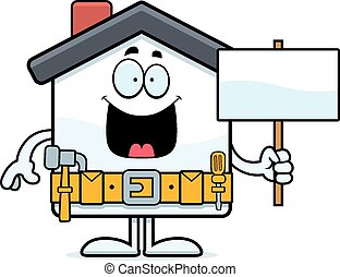 Cartoon Home Improvement Sign
