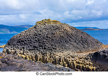 Staffa, an island of the Inner Hebrides in Argyll and Bute,...