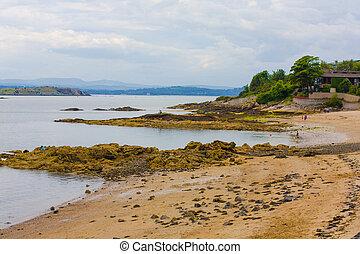 Black Sands beach, Aberdour, Scotland. Aberdour has two...