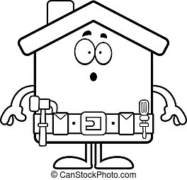 Surprised Cartoon Home Improvement - A cartoon illustration...