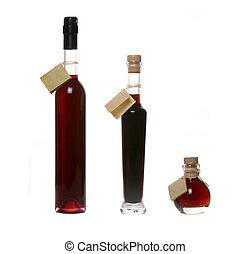 Liquor bottles - Assortment of colourful liquor bottles on...