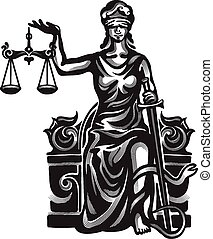 Femida vector illustration - Femida - lady justice, graphic...