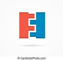 Vector constructor design logo - Vector logo design element...