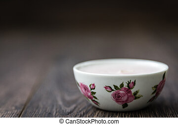 Decorative Candles - Decorative candles with flower patterns...