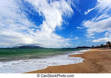 Nha Trang City Beach, Vietnam - Nha Trang beach, Khanh Hoa...