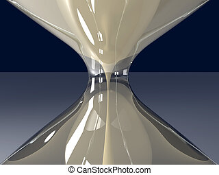 Hour Glass Closeup - 3D Illustration.