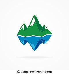 Vector logo of the mountain and iceberg - Vector logo design...