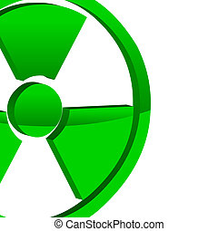 Atomic background - Abstract background with a nuclear...