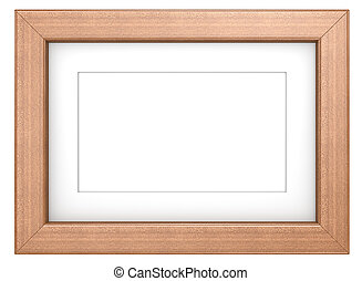 Mahogany picture frame - Wooden frame with Passepartout...