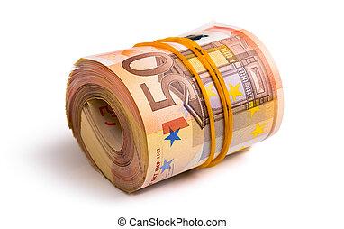 euro rolled - seven thousa