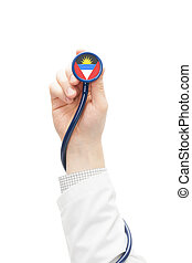 Stethoscope with national flag series - Antigua and Barbuda...