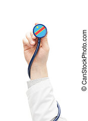 Stethoscope with national flag series - Congo-Kinshasa -...