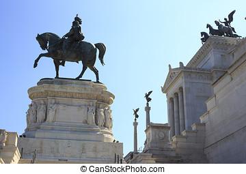Vittorio Emanuele Monument, Rome, Italy.