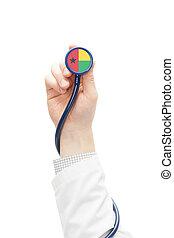 Stethoscope with national flag series - Guinea-Bissau -...