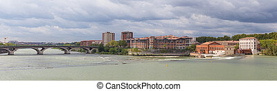 Panorama of the Hydroelectric power station in Toulouse -...