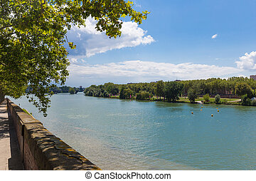 View of the Garonne river in Toulouse