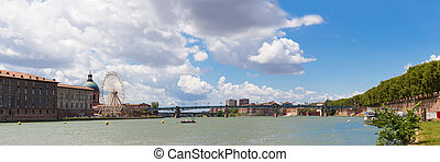 River Garonne in Toulouse in France