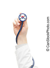 Stethoscope with national flag series - South Korea -...