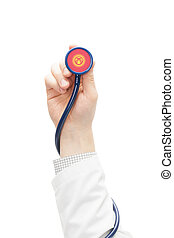 Stethoscope with national flag series - Kyrgyzstan -...
