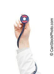Stethoscope with national flag series - Laos - Stethoscope...
