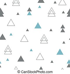 Geometric seamless pattern. Repeating geometric triangles....