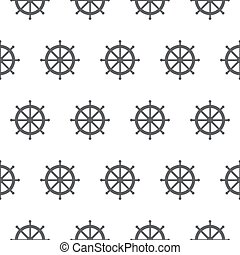 Seamless pattern with gray rudders. Nautical theme