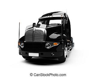自動車, 運搬人, トラック, 前部, 光景