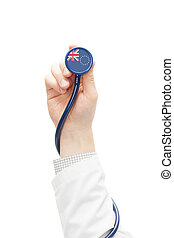Stethoscope with national flag series - Cook Islands -...