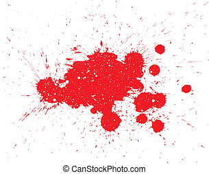Ink splat overlayed with dots in black and white