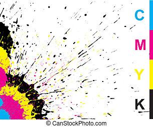 Ink splat grunge - color Ink splat grunge overlayed with...