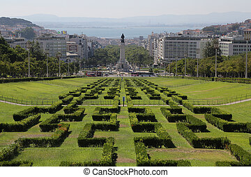 Eduardo Park - The Eduardo vii park in Lisbon, Portugal