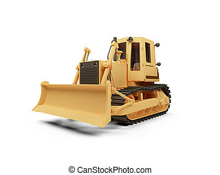 Earth moving machine - isolated earth moving machine on a...