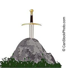 Arthurs Sword - Excalibur King Arthurs sword in the stone...