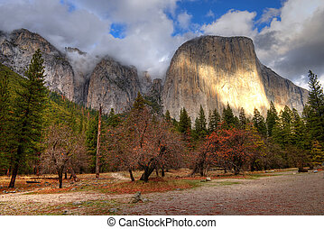 El Capitan Yosemite Valley National Park California in...