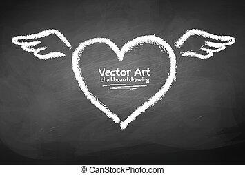 Chalk drawn heart