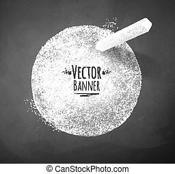 Chalked banner.  - Vector background with chalked banner.