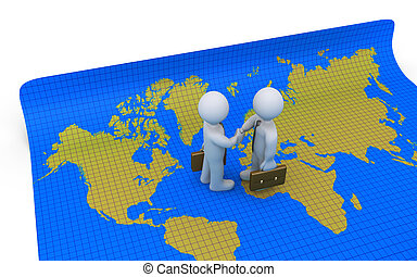 Agreement on world map