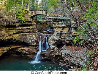 Enchanted Waterfall - The Upper Falls located in the Old...