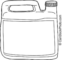 Outlined Soap Container