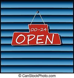 Hanging Open Sign, vector