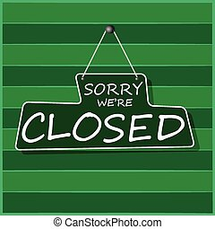 Hanging Closed Sign, vector