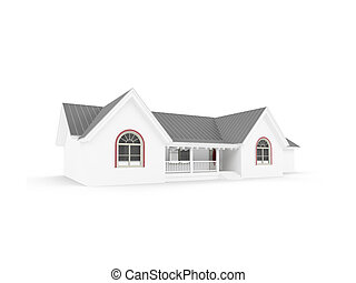 house over white - isolated house on a white background