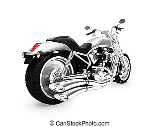 isolated motorcycle back view 01 - isolated motorcycle on a...