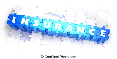 Insurance - White Word on Blue Puzzles - Insurance - White...
