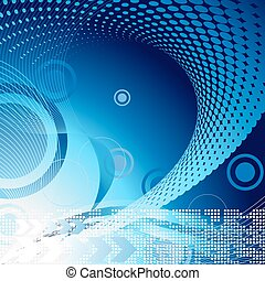 techno pattern - Abstract vector template background for...